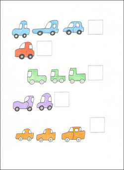 Counting Cards example page -- cars