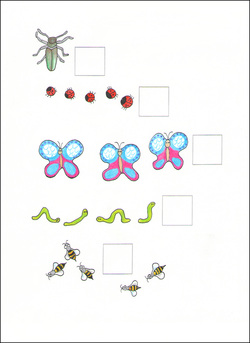 Counting Cards example page -- insects