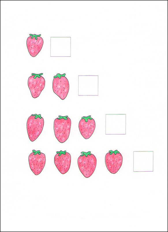 Counting Cards example page -- strawberries