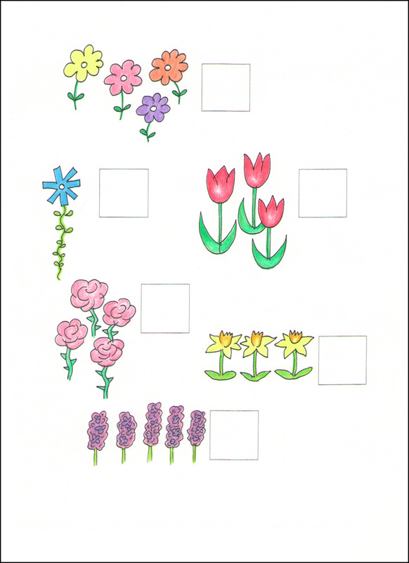 Counting Cards example page -- flowers
