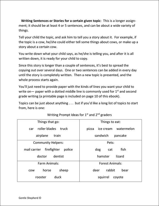 Super and Simple Primary Grades Writing example page