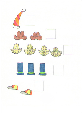Counting Cards example page -- hats