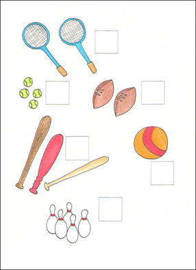 Counting Cards example page -- sports equipment